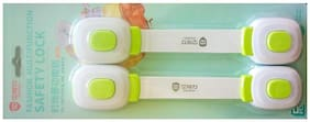 IGADG Baby Safety protective Door and Cabinet lock  - Pack of 2 - Green