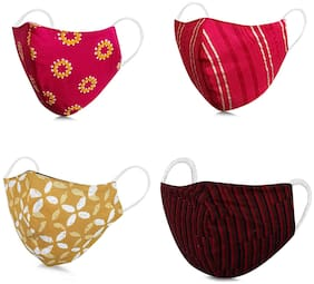 Pack of 4 Cotton ( Assorted )