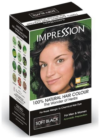 IMPRESSION 100% NATURAL HERBAL HAIR COLOR - SOFT BLACK