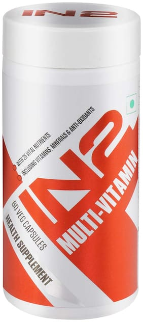 IN2 Multivitamin Multi-minerals and Anti-Oxidant 25 Vital Nutrients 60 Capsules (Pack Of 1)