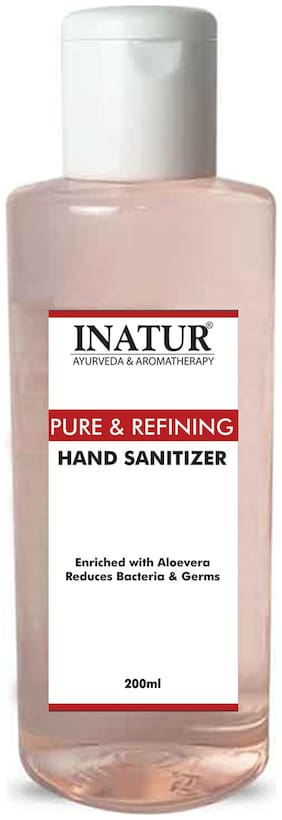 Inatur Pure & Refining Hand Sanitizer 200 ml ( Pack of 1 )