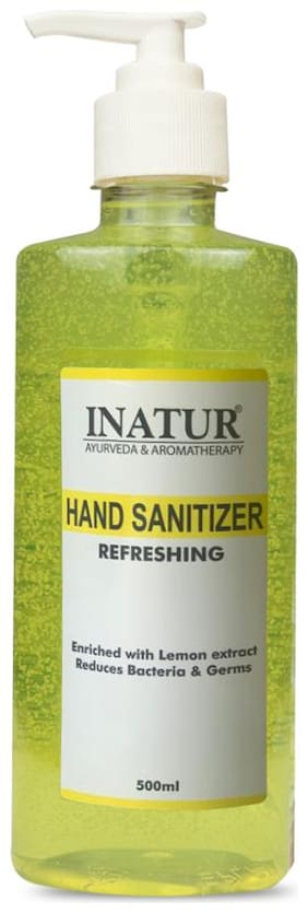 Inatur Refreshing Hand Sanitizer,70% Alcohol Content, 500 ml ( Pack of 1)