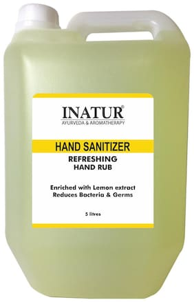Inatur Refreshing Hand Sanitizer 5L(Pack of 1)