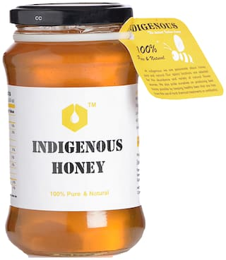 Indigenous Raw Organic Honey, Pure Natural Honey 500 Grams (Glass Jar)