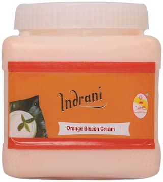 Indrani Orange Bleach Cream For Women Gives A Natural Soft Glow To Skin 1 kg