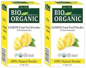Indus Valley Organic Pure Lemon Peel Powder For Enhance The Skin - Twin Pack