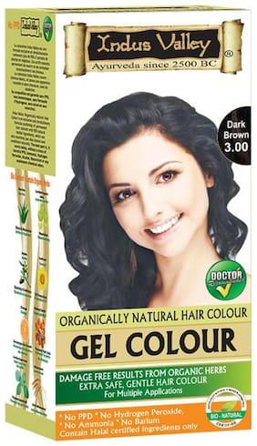Indus Valley Organically Natural Gel Hair Colour Colour Dark Brown 3.00