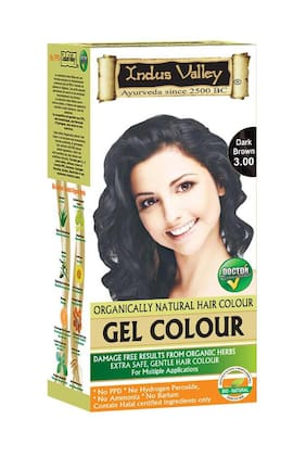 Indus Valley Organically Natural Gel Hair Colour Dark Brown 3 00