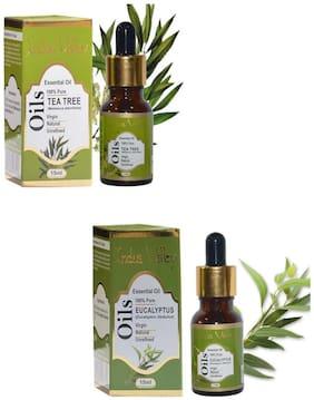Indus Valley Combo Pack For Anti Dandruff Treatment(Tea Tree + Eucalyptus)