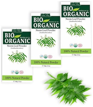 Buy Indus Valley Bio Organic Herbal Neem Powder - Triple Pack (For