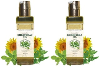 Indus Valley Ayurveda Bhringraj Hair Oil (For Prevent Greying Hair) Twin Pack