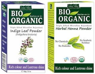 Indus Valley Indigo Powder With Herbal Henna Combo Pack