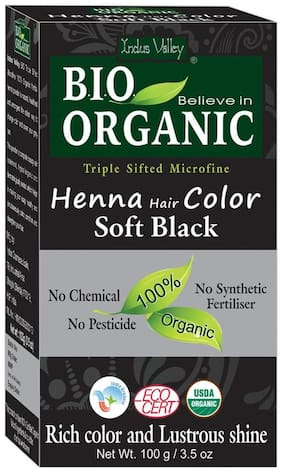 Indus Valley 100% Organic Soft Black Henna Hair Dye - Chemical Free