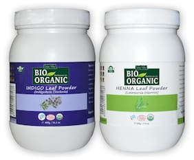 Indus Valley Natural Indigo Hair Colour With Henna Leaf Powder Jar (Combo Pack)