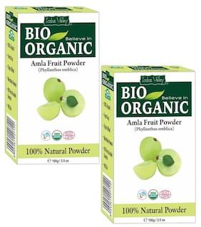 Indus Valley Bio Organic Amla Powder For Hair Growth & Scalp Treatment - Twin Pack