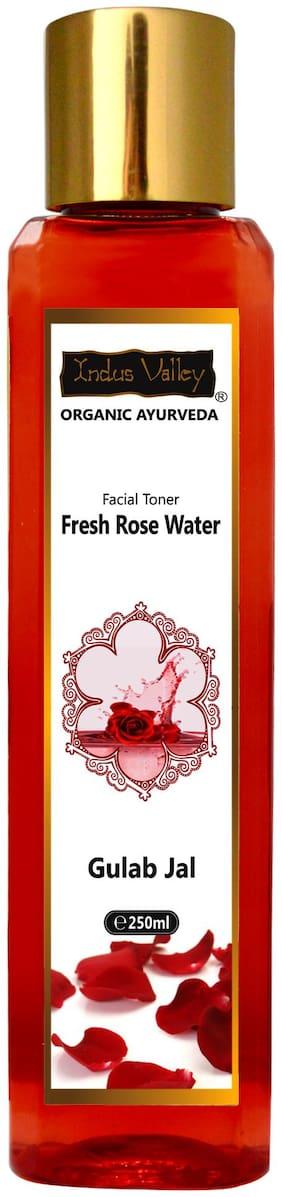 Indus Valley Organic Ayurveda Fresh Rose Water Facial Toner 250 ml