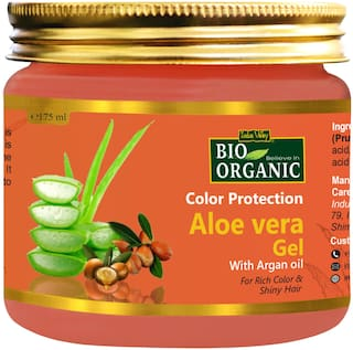 Indus Valley Bio Organic Natural Aloe Vera Gel For Color Protection And Shiny Hair- 175 Ml