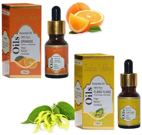 Indus Valley Orange And Ylang Ylang Oil As Facial Toner For Combination And Oily Skin(Combo Pack)