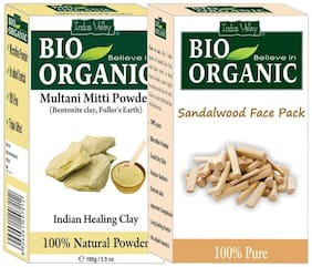Indus Valley Multani Mitti With Combo Sandalwood Powder
