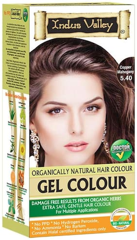 Indus Valley Professional Hair Colour Copper Mahogany 5.4 (For Protected Hair)