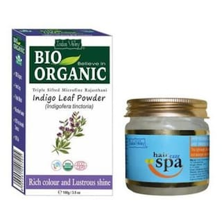 Buy Indus Valley Indigo Henna Leaf Powder With Extra Nourishing Hair