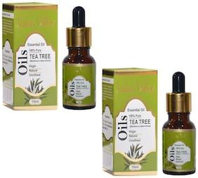 Indus Valley 100% Natural Virgin Tea Tree Essential Oil 30 ml - Natural Deodorant (Set of 2)
