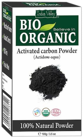 Indus Valley Bio Organic Activated Carbon Powder For Clears Blackheads