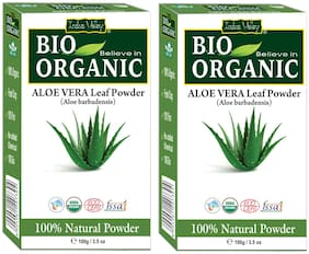 Indus Valley Natural Aloe Vera Powder For Anti Dandruff Smoothing & Shiny Hairs - Twin Pack