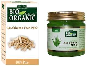 Indus Valley Aloevera Gel & Sandalwood Pack of 2 For Skin Cleansing & Smoothing