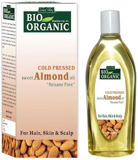 Indus Valley Dark Circle Remover 100% Natural Cold Pressed Almond Oil (200 ml ) - Provide Radiant Skin & Dandruff & Frizz Free Hair