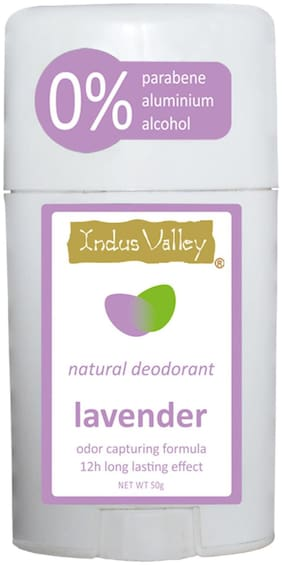 Indus Valley Natural Lavender Deodorant Stick For 12Hour Long Lasting Effects-50Ml