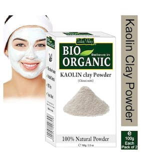 Indus Valley Organic Kaolin Clay For Facial Powder-Twin Pack