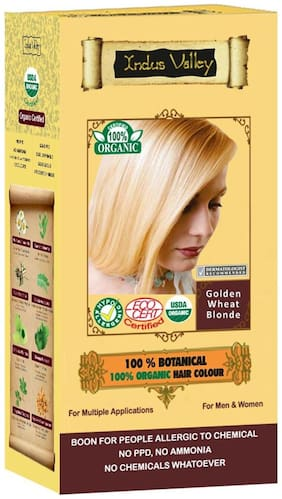 Indus Valley 100% Organic Botanical Golden Wheat Blonde - Usda Certified Hair Color