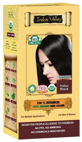 Indus Valley 100% Organic Botanical Indus Black Hair Color (Dandruff Remover)