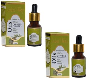 Indus Valley Herbal Cypress Essential Oil -30 ml (For Body Face & Hair Care) Set of 2