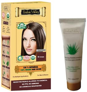 Indus Valley 100% Botanical Brown Hair Colour With 50 ml Shampoo Free