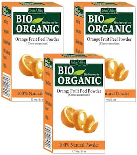 Indus Valley Pimple & Scars Remover Organic Orange Peel Face Pack Powder For All Skin Types - Set of 3