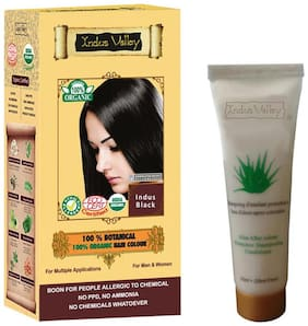Indus Valley 100% Botanical Hair Colour Indus Black With 50 ml Shampoo Free