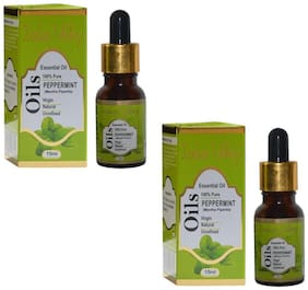 Indus Valley Natural Fresh Papermint Cooling&Refreshment Essential Oil 30 ml -Set of 2