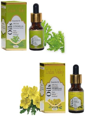 Indus Valley Citronella And Evening Primrose Essential Oil Combo Pack For Scalp Problems