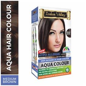 Indus Valley Aqua Colour 100% Botanical Hair Colour Medium Brown 230 g ( Pack of 1 )