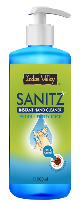 Indus Valley Sanitz Instant Hand Cleaner with Blueberry Juice Hand Sanitizer 500ml
