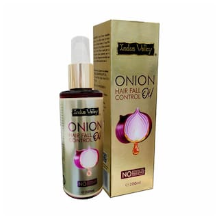 INDUS VALLEY 100% Organic Onion Oil For Hair Fall Control - (200ml)