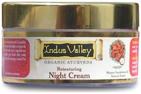 Indus Valley Retexturing Hydrating Night Cream With Kashmiri Saffron & Night Jasmine
