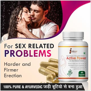 Inlazer Active Power Herbal Capsules For Boost Your Confidence 500mg 100% Ayurvedic
