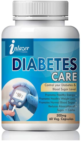 Inlazer Diabetes care For Control Your Blood Sugar Level 100% Ayurvedic Pack of 1 (60 Capsules)