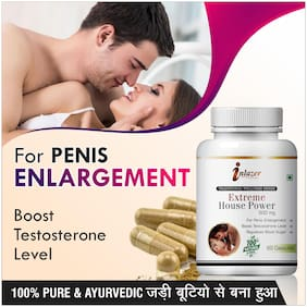 Inlazer Extreme House Power Herbal Capsules For Weakness In Male Organ 500mg 100% Ayurvedic