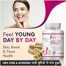 Inlazer Glow Herbal Capsules For Remove Dark Spots And Pimples 500mg 100% Ayurvedic