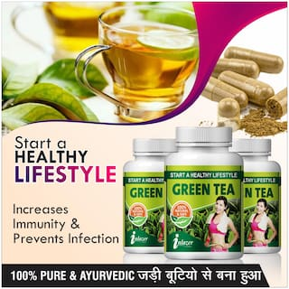 Inlazer Green Tea Herbal Capsules For Improves Physical Performance 500mg 100% Ayurvedic