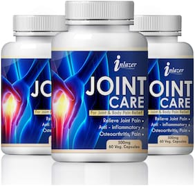 Inlazer Jointo Care For Joint & Body Pain Relief 100% Ayurvedic Pack of 3 (180 Capsules)